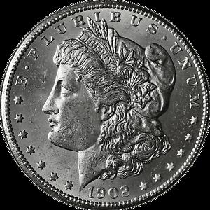 BU 1902-P Morgan Silver Dollar Brilliant Uncirculated
