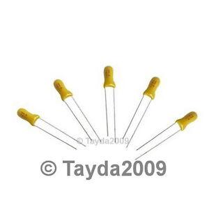 50-x-10uF-16V-Radial-Capacitor-Tantalum-Free-Shipping