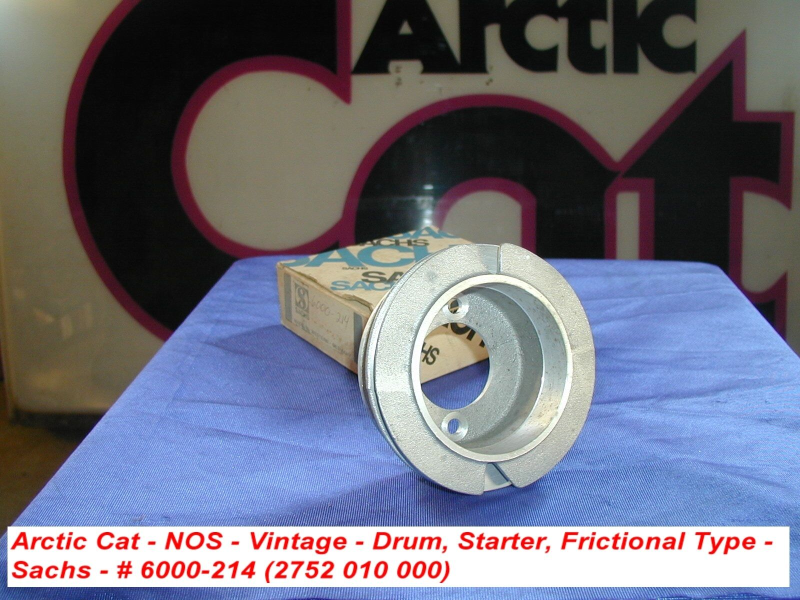 Arctic Cat Recoil Drum, Starter, Frictional Type Sachs VINTAGE