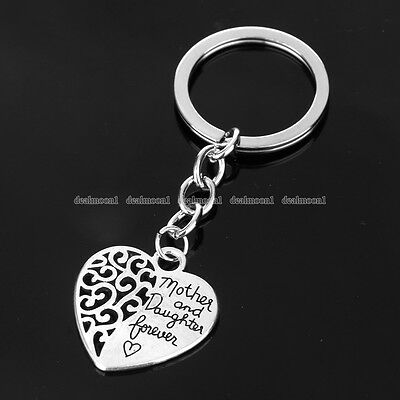 Best Selling Family Gift Mother Daughter Forever Pendant Key Ring Chain Jewelry