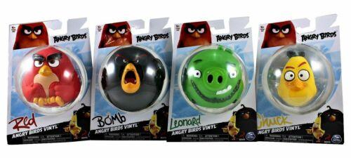 Chuck ANGRY BIRDS Vinyle figures lot de 4 Leonard bombe et rouge