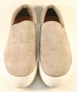 b3db855af30 Steve Madden Gray Suede Gills Slip On Fashion Sneakers Womens Size ...