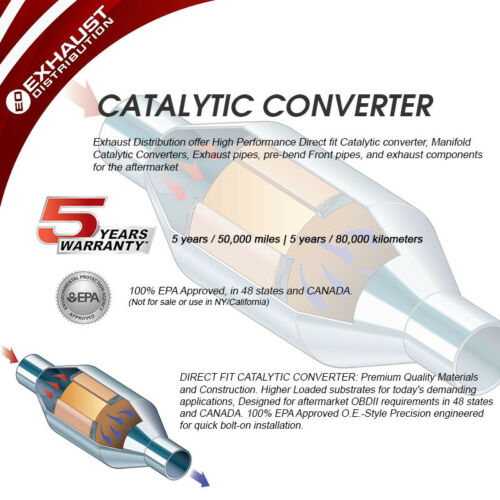 Fit INFINITI i30 3.0L1999 Rear Catalytic Converter