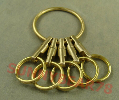 Handmade Solid Brass Key ring Key Chain Holder with Rings