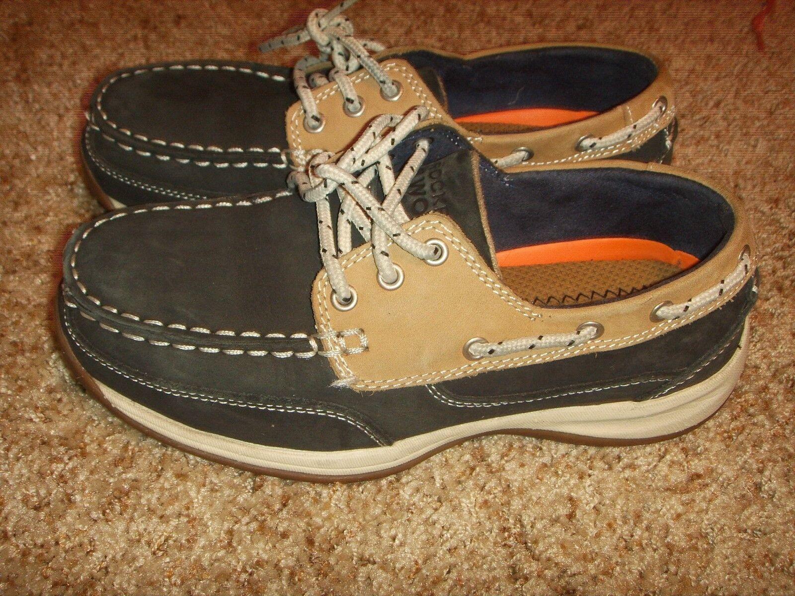 Rockport Sailing Club RK670 Navy Steel Toe 3 Eye Tie Boat Work chaussures femmes 6.5M
