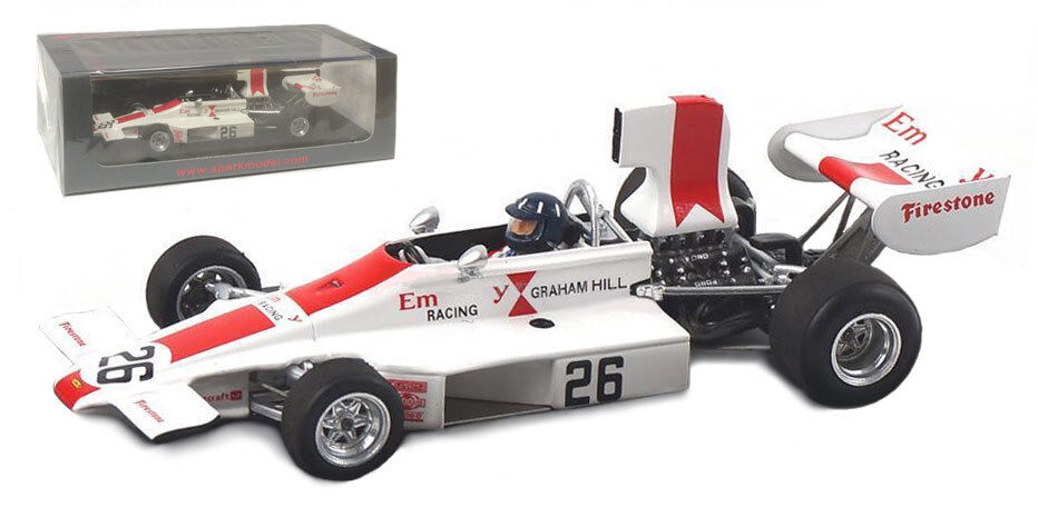 Spark S4352 Embassy Lola T370 th Sweden GP 1974 - Graham Hill 1 43 Scale