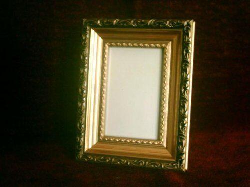 10x15 Rahmen Bilderrahmen Glasscheibe Fotorahmen Schwarz m 4x ANTIK Gold