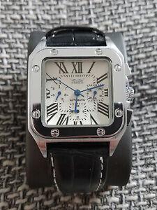 Jaragar Santos Automatik Automatic Uhr Herrenuhr Armbanduhr Automatikuhr weiß