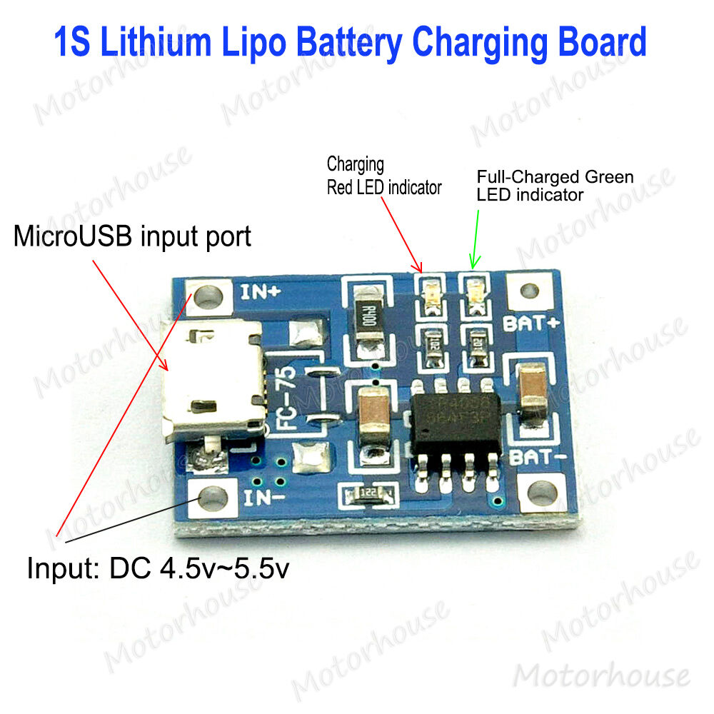 V microusb lithium lipo li ion battery