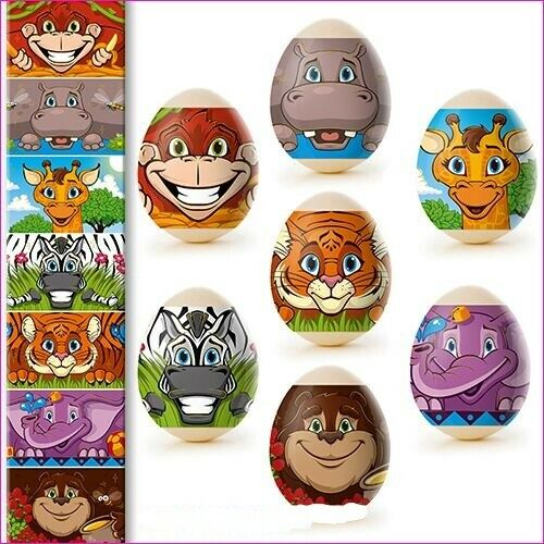 Know Learning price only 4,75 € for 35 COLOURFUL EGGS Egg Colour Magic Foil Africa Animal