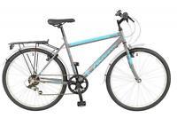 Falcon Mens Explorer Hybrid Bike Bicycle Black Blue 26 6 Speed Shimano