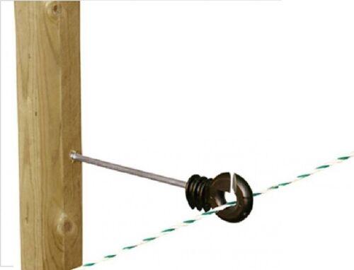 Décalage Anneau Isolateurs x 50-clôture électrique clôture vis en Straight Wire