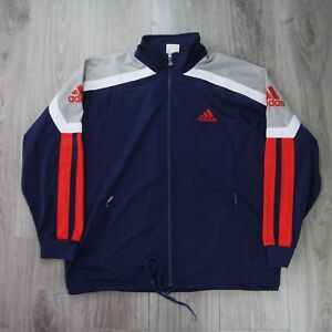 Detalles de Vintage Para Hombre 90s Adidas EQT Deporte Chándal Chaqueta De Chándal Hechizo