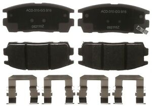 Disc Brake Pad Set-Ceramic Disc Brake Pad Rear ACDelco Advantage 14D1281CHF1