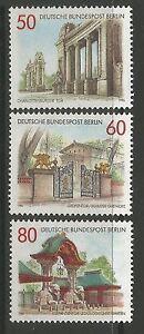 Berlin. 1986. Berlin Architecture-passerelles Set. Sg: B723/25. Neuf Sans Charnière-afficher Le Titre D'origine