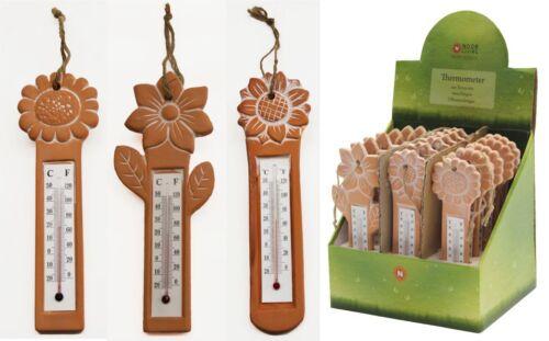 Thermometer zum Hängen Terracotta Gartendeko Geschenk NEU