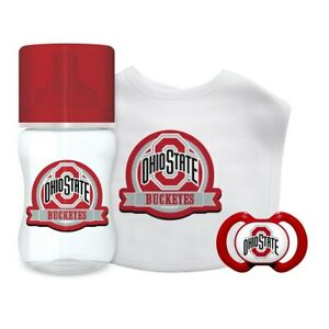 OHIO-STATE-BUCKEYES-Baby-Gift-Set-3-Piece-NEW-IN-BOX