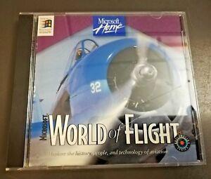 Microsoft-World-of-Flight-PC-Vintage-CD-ROM-1995-Flight-Simulator-Game-Software