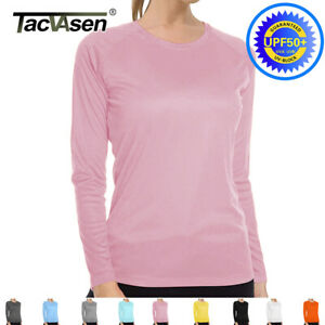 UPF50-Skin-Protection-Sun-Block-Shirt-Women-039-s-Long-Sleeve-T-Shirts-Tops-Outdoor