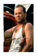 BRUCE WILLIS - DIE HARD AUTOGRAPHED SIGNED A4 PP POSTER PHOTO