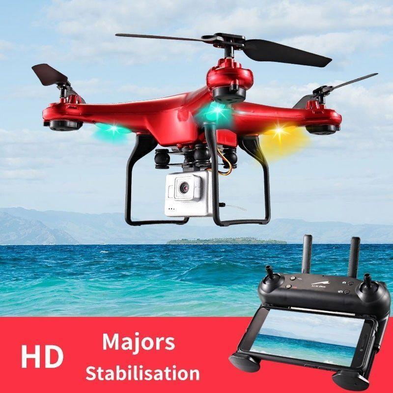 Helicóptero Teledirigido Control remoto RC Quadcopter 2MP HD Cámara 6-Axis DM006 Negro