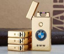 Gold Feuerzeug USB Glühfaden Logo BMW Etui KOSTENLOSER VERSAND
