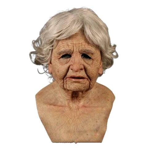 Latex Old Man Mask Male Disguise Cosplay Costume Halloween Party Realistic Mask