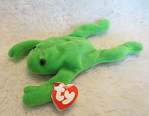ff7dba62e62 Image is loading TY-Beanie-Baby-Original-LEGS-the-Frog-1993-