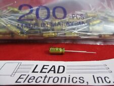 Qty 200 Nichicon 1uf 50 Volt Radial Audio Gold Series Ufg1h010mdm 1mfd 50v