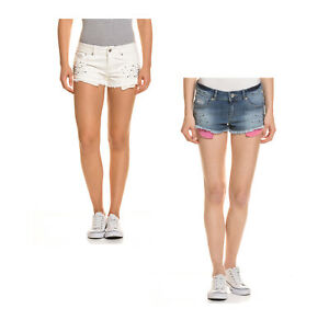 Superdry Damen Shorts kurze Hose Jeansshorts Sommerhose Bermuda Slim Fit Stretch