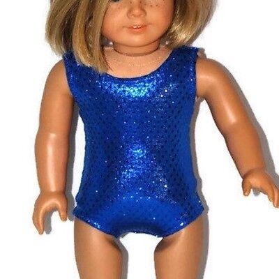 "SHINY BLUE LEOTARD Dance//Gymnastics Doll Clothes Fits 18/"" American Girl Dolls"