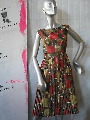 Bello Abito M Abito Estivo In Nylon 60er 50er Fiori Rockabilly True Vintage Sun Dress-mostra Il Titolo Originale