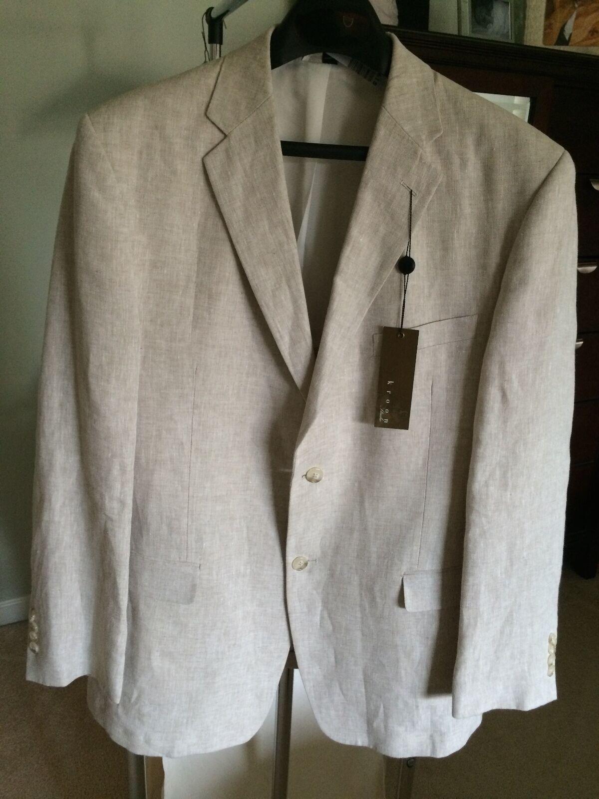 Kroon Weiland Cotton Blend Sportcoat in Beige for Men SZ  42R
