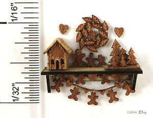 KIT-Gingerbread-Christmas-shelf-Quarter-Scale-Laser-Cut-Kit-1-48-1-4-034-dollhouse