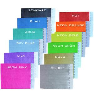 Eintrittsbänder Einlassbänder Kontrollbänder Armband Tyvek®-Bänder