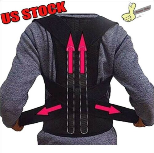 Details about  /1x Womens//Mens Pro Posture Corrector Breathable Humpback Fix Kyphosis Brace Belt
