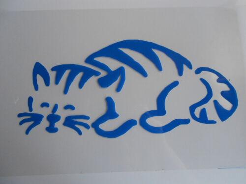 Katze  für Textil Airbrush Wanddeko u.v.m auf A4 Schablone Stencil schl