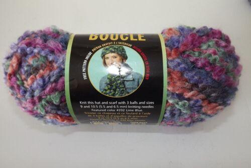"Lion Brand Boucle/' Yarn #210 /""Wild Berries/"" Mohair Blend 2.5 oz Dye Lot #31676"