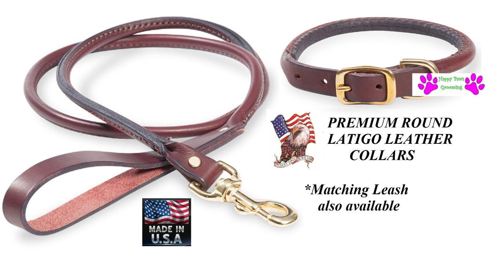 USA Herstellung Premium Heavy Duty Latigo Leder Gerollt Rund Hund     | Hat einen langen Ruf