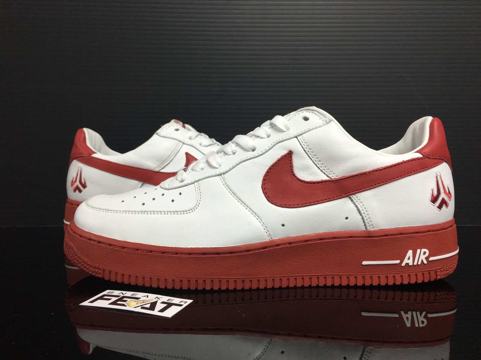new product 4abad 89689 Nike Air Force 1 Low Kobe Bryant PE Sample White Red DS Mens Size 11 Lakers