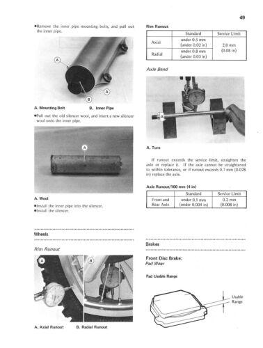 KAWASAKI Workshop Manual KX500 KX500-A1 1983 VMX Maintenance Service /& Repair