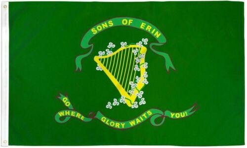 Ireland Sons of Erin 2x3ft Poly Flag Patrick/'s Day St Irish Pride