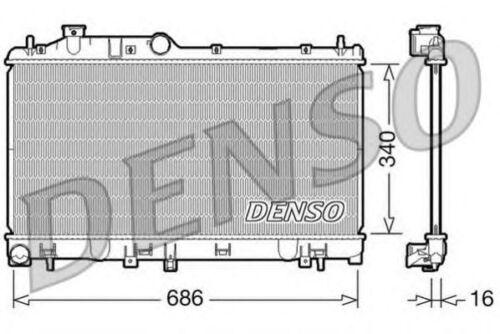Radiatore motore DENSO DRM36007 SUBARU