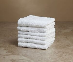 120 white 100% cotton 12  x12   terry shop bar wiping cloths ... 80c669601