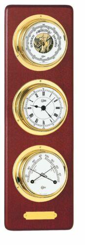 Barigo Maritim hochwertige 3 teilige Wetterstation Barometer Uhr Comfortmeter