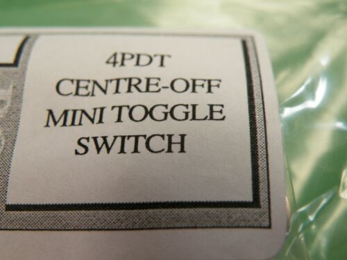 10 Pc 4PDT Miniature Toggle Switch on-off-on Center Off Model Railway Hobby Z054