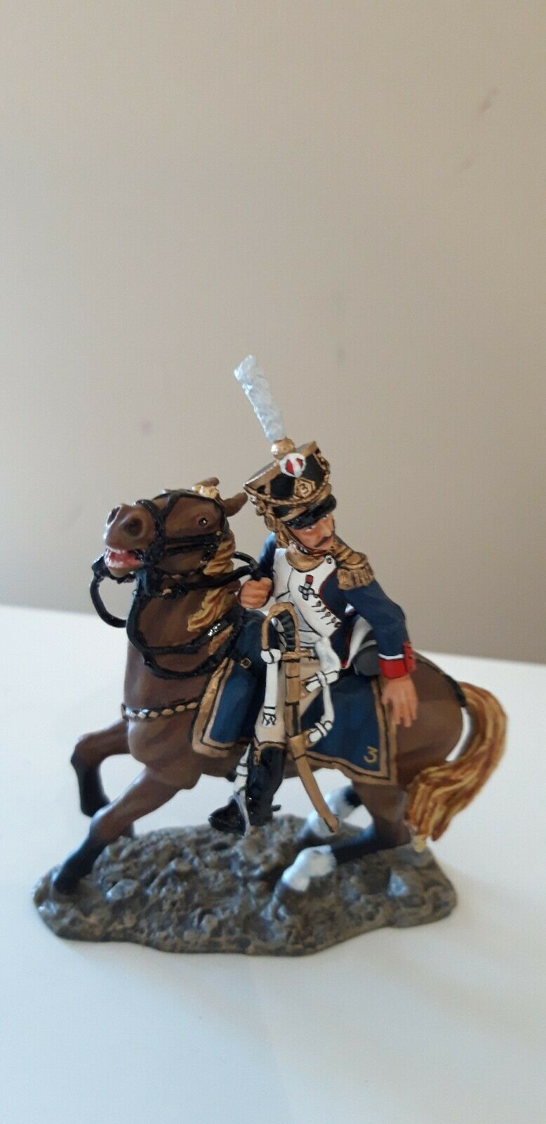 King and country Waterloo Napoleonic French French officer mounted boxed 1 30  na18