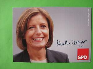 Autogrammkarte - Malu Dreyer - SPD - original autograph