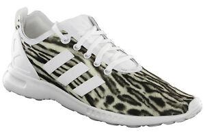 Aq5645 Womens Smooth Lace Adidas Zebra Adv Flux White Sports Zx Trainers xatafwvYq