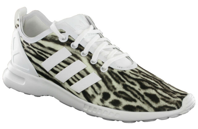 c80ae9adf Adidas ZX Flux ADV Smooth Trainers Sports Womens Lace White Zebra AQ5645